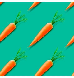Carrot seamless pattern vector image