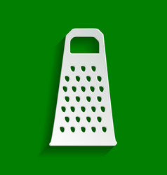 Cheese grater sign paper whitish icon vector