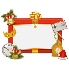 Christmas Celebration Board vector image vector image