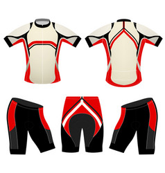 Cycling vest sports t-shirt vector