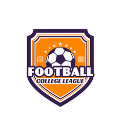 Football college league soccer badge icon vector