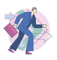 Forward business development vector