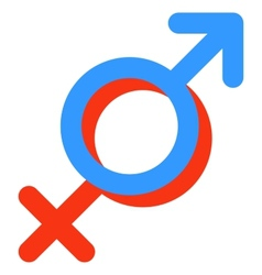 Gender symbol of Venus and Mars vector image