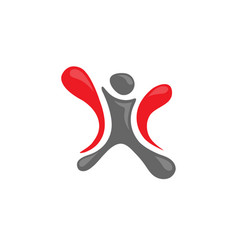 Human figure fitness logo vector