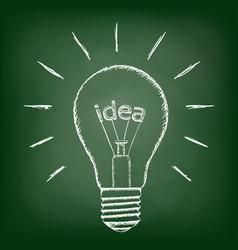 idea inside the bulb vector image