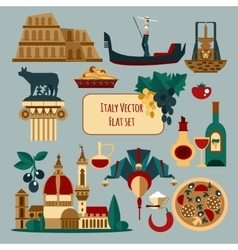 Italy touristic set vector