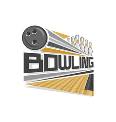 logo for bowling vector image