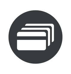 Monochrome round credit card icon vector