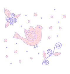 pink and purple bird vector image
