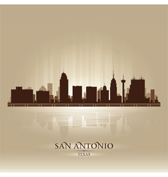 San antonio texas skyline city silhouette vector