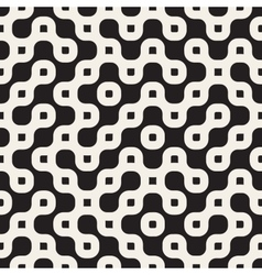 Seamless black and white rounded irregular vector