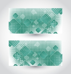 Set cards with abstract squares vector image vector image