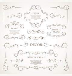 Set of decorative elements vector