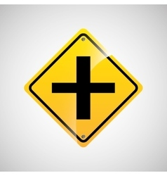 Signal traffic yellow icon graphic vector