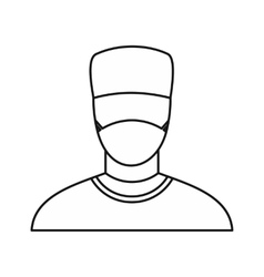 Surgeon icon outline style vector