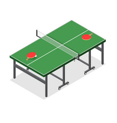 Table tennis game isometric view vector