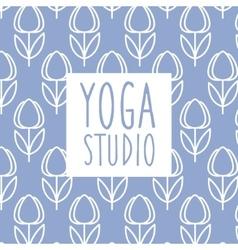 Text yoga studio design card vector