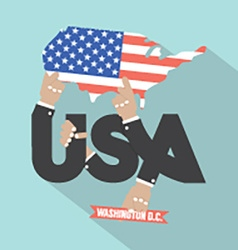 USA Typography Design vector image vector image