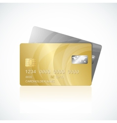 Vip cards gold and silver vector