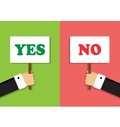 Vote and hand expresses an opinion vector