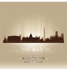 Washington district of columbia skyline city silho vector