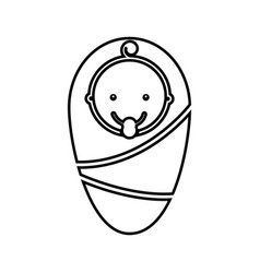 Cute baby isolated icon vector