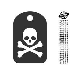 Death sticker icon with work bonus vector