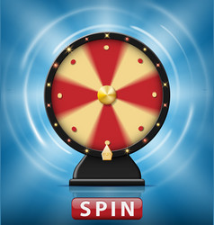 realistic 3d spinning fortune wheel isolated with vector image