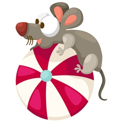 mouse with ball vector image