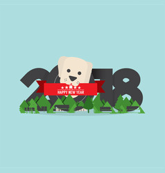 2018 year of dog vector