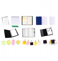 office and school supplies vector image