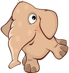 Cute elephant calf cartoon vector