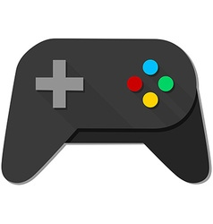 Game console black joystick vector