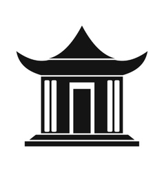 Traditional chinese house icon simple style vector