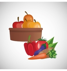 Healthy food design organic food natural product vector