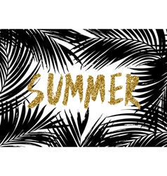 Summer palm leaves design vector
