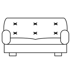 Two seat sofa vector