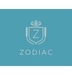 Elegant monogram letter z logotype premium crest vector
