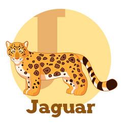 abc cartoon jaguar vector image vector image