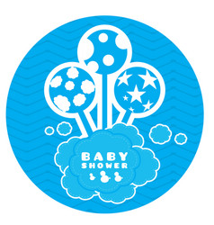 baby shower label vector image