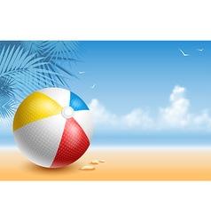 Beach ball vector image vector image