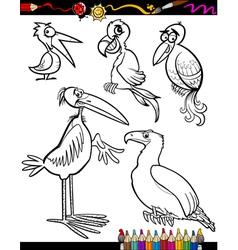 Cartoon Birds for Coloring Book vector image vector image