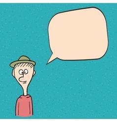 Cartoon man talking vector image