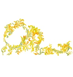Decorative ornamental floral vintage vector image
