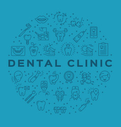 dental clinic circle infographics stomatology vector image vector image