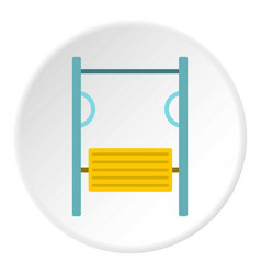 Exerciser on playground icon circle vector