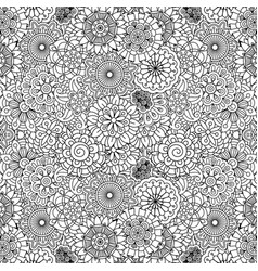 floral ornamental decorative pattern vector image vector image