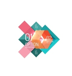 Geometric abstract composition with text and vector image vector image