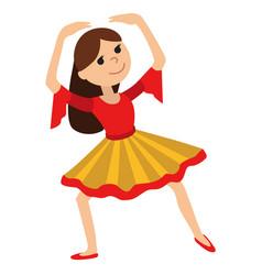 girl dancing vector image vector image