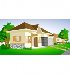 house view vector image vector image